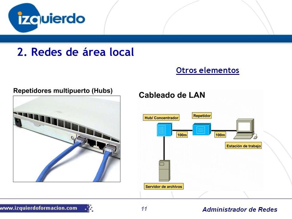 2. Redes de área local Otros elementos