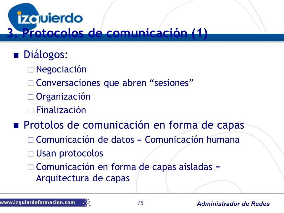 3. Protocolos de comunicación (1)