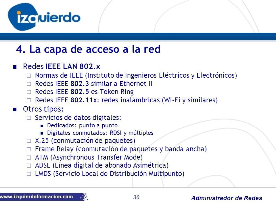 4. La capa de acceso a la red