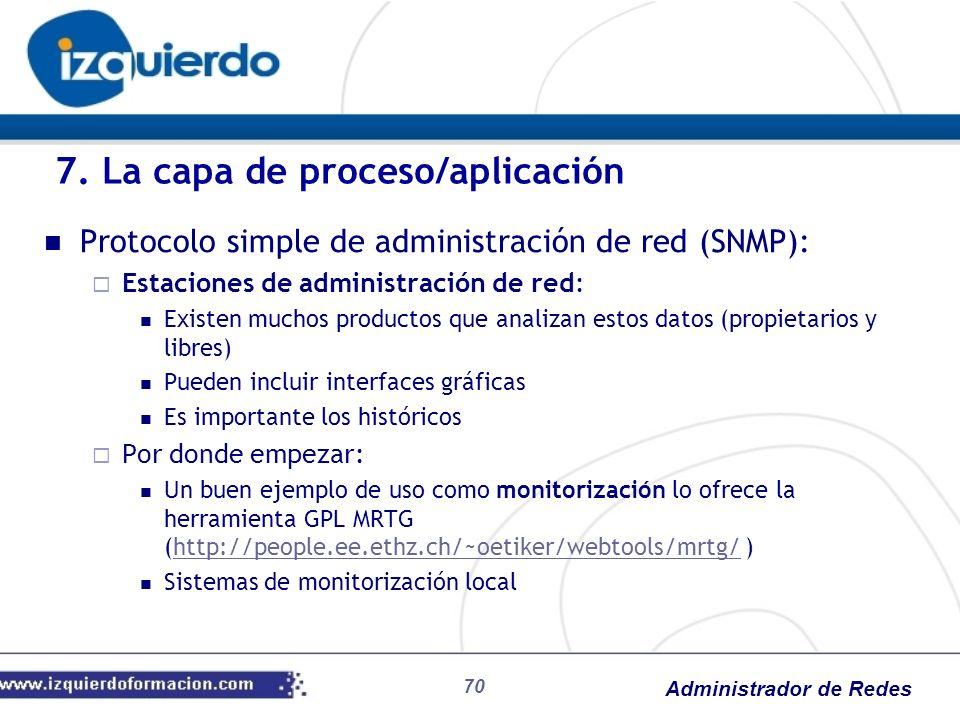 7. La capa de proceso/aplicación