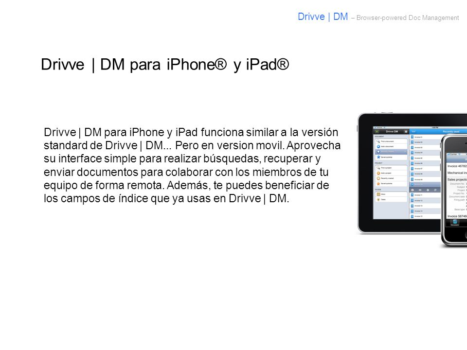 Drivve | DM para iPhone® y iPad®