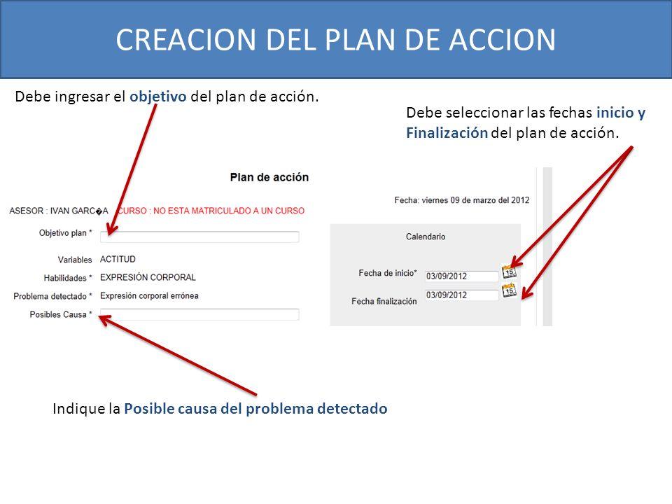CREACION DEL PLAN DE ACCION