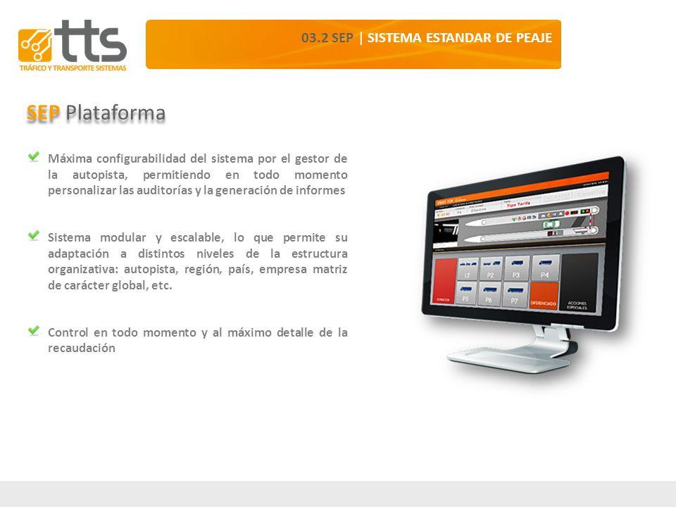 SEP Plataforma 03.2 SEP | SISTEMA ESTANDAR DE PEAJE