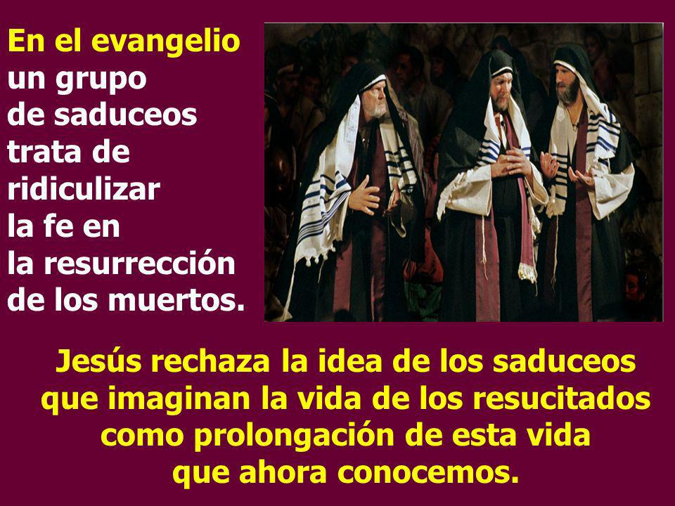 En el evangelio un grupo de saduceos trata de ridiculizar la fe en la resurrección de los muertos.