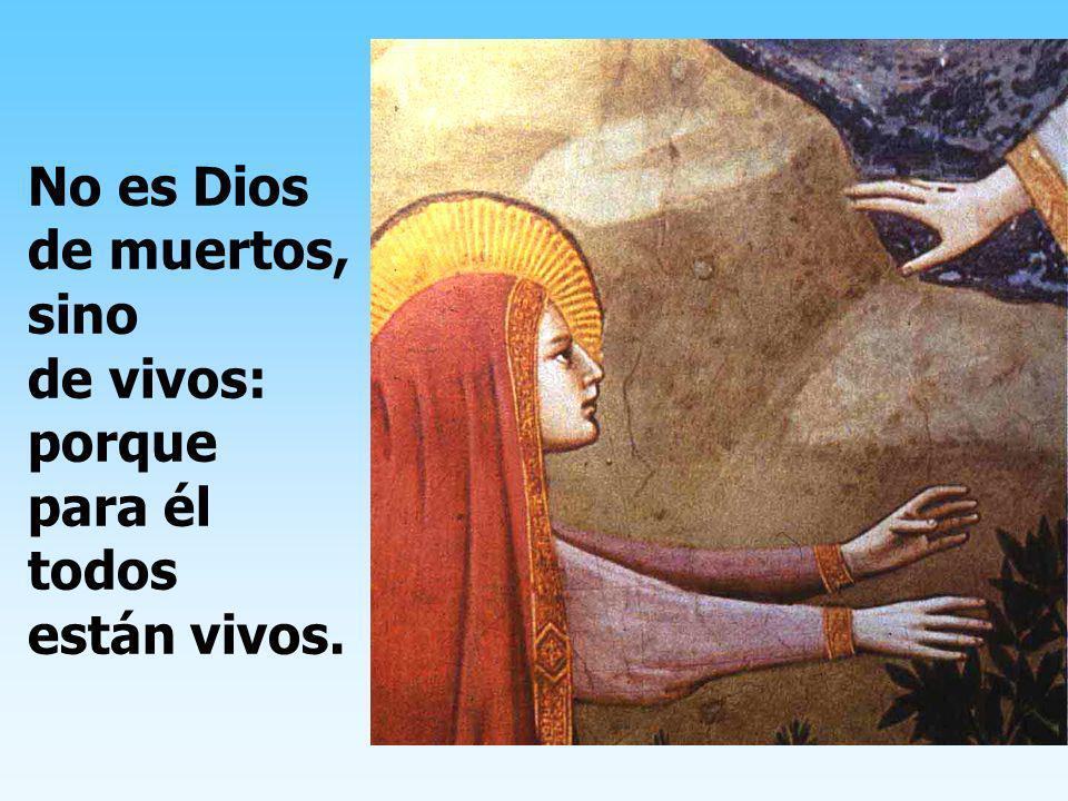 No es Dios de muertos, sino de vivos: porque para él todos están vivos.