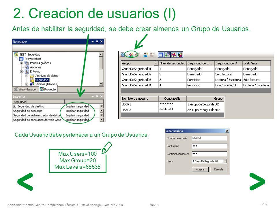 2. Creacion de usuarios (I)