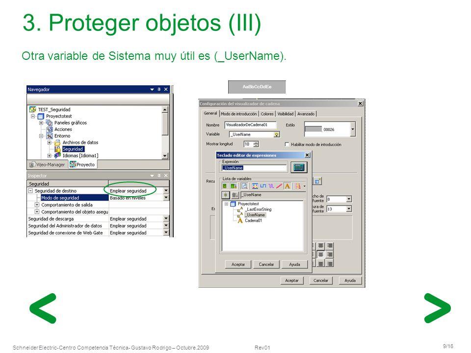 3. Proteger objetos (III)