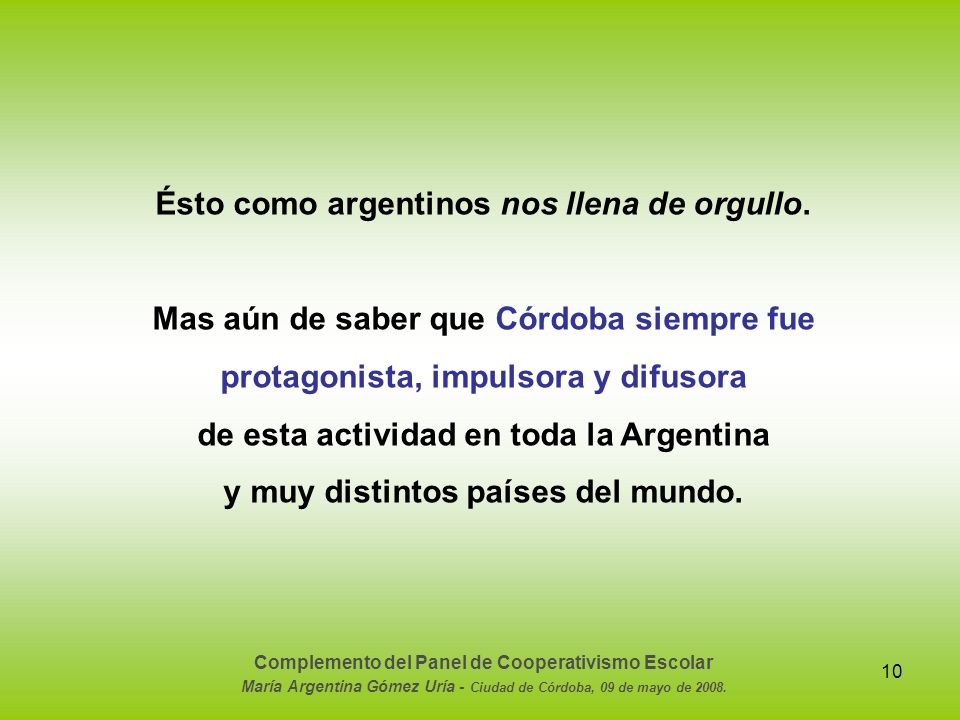 Ésto como argentinos nos llena de orgullo.
