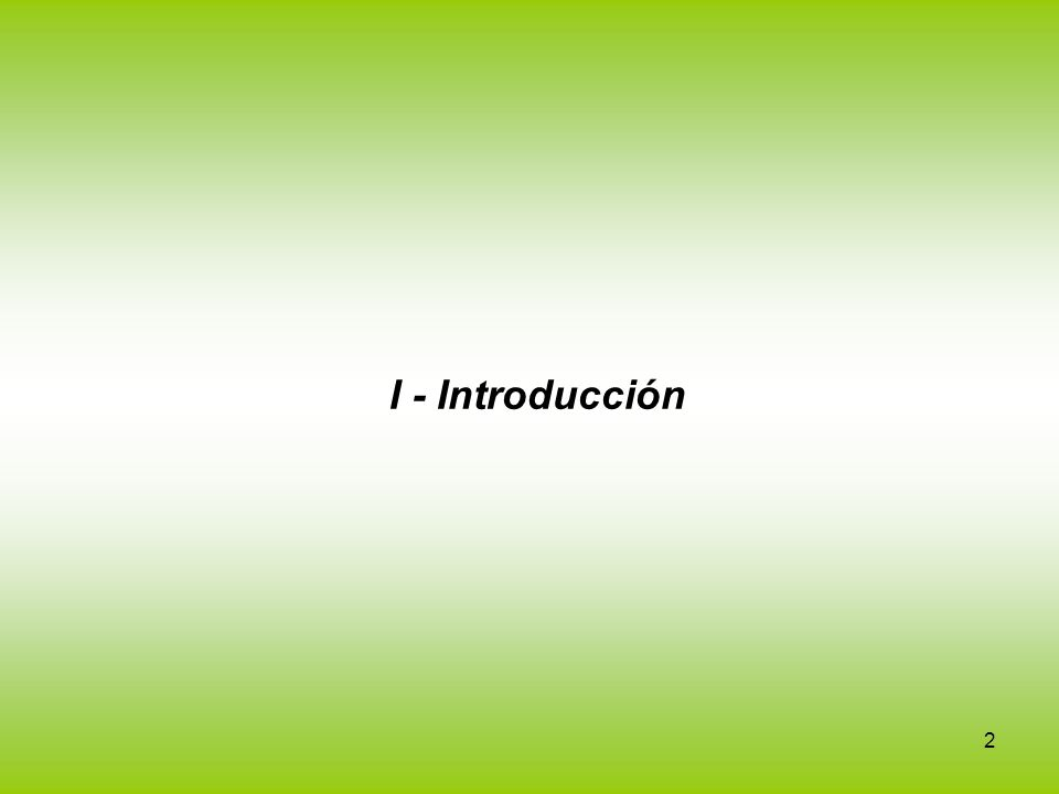 I - Introducción