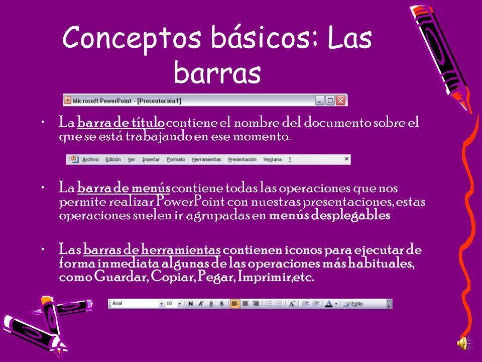 Conceptos básicos: Las barras