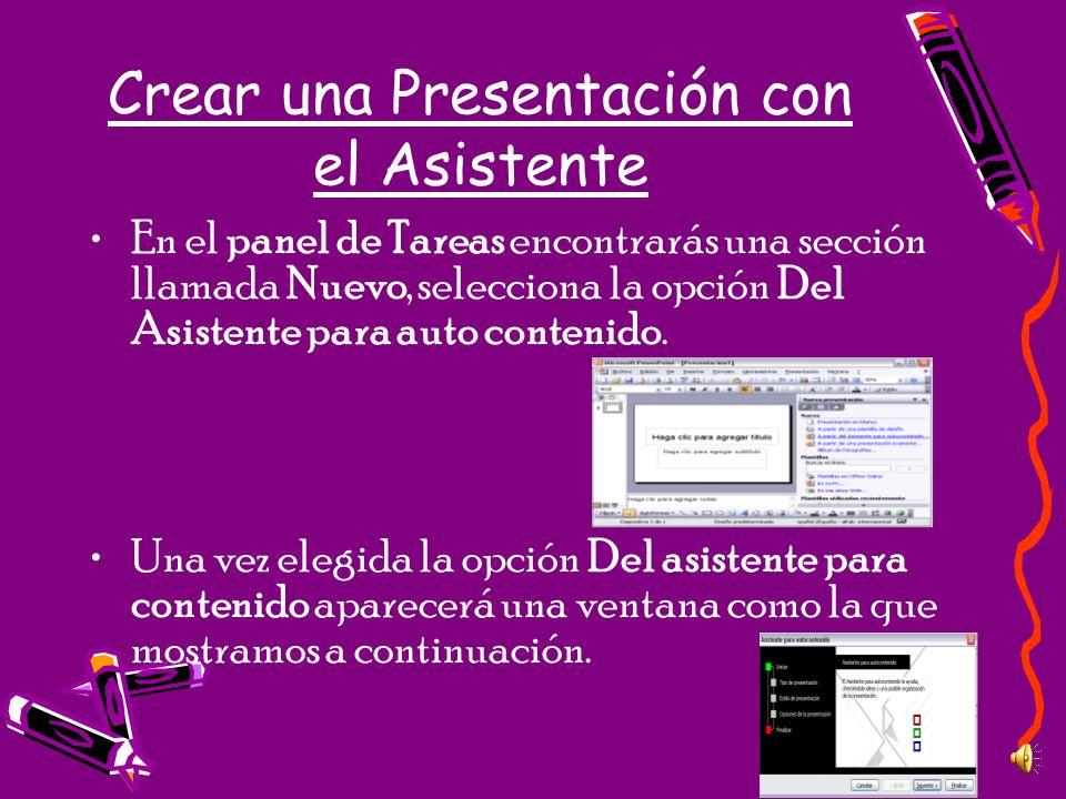 Crear una Presentación con el Asistente