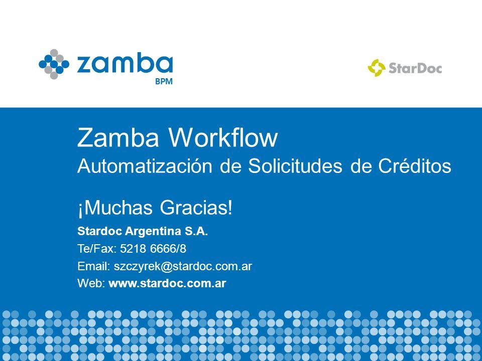 Zamba Workflow Automatización de Solicitudes de Créditos