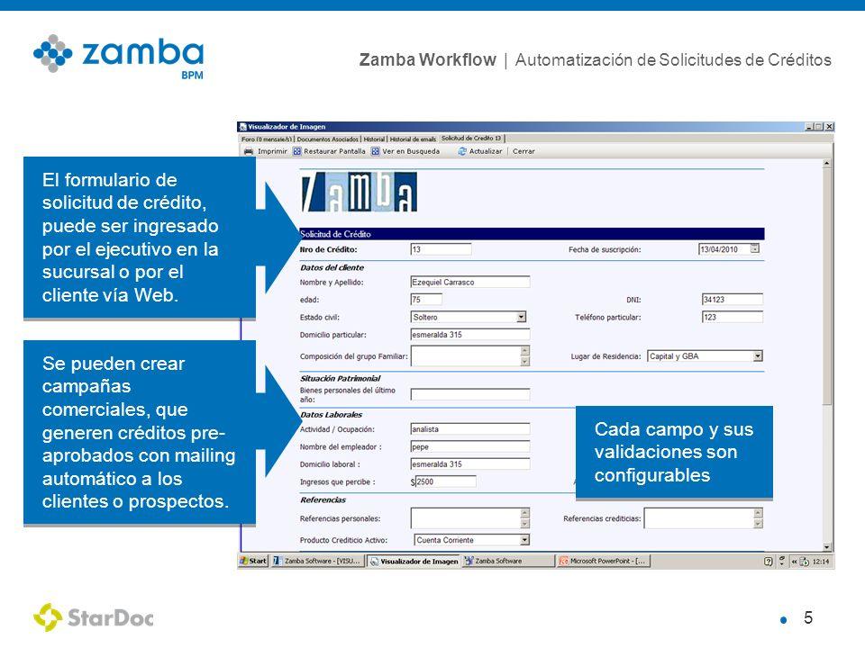 El formulario de solicitud de crédito, puede ser ingresado por el ejecutivo en la sucursal o por el cliente vía Web.
