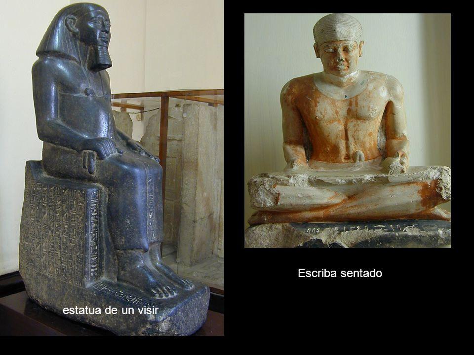 Escriba sentado estatua de un visir