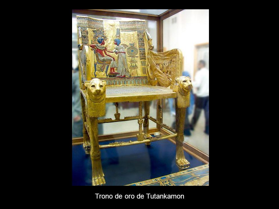 Trono de oro de Tutankamon