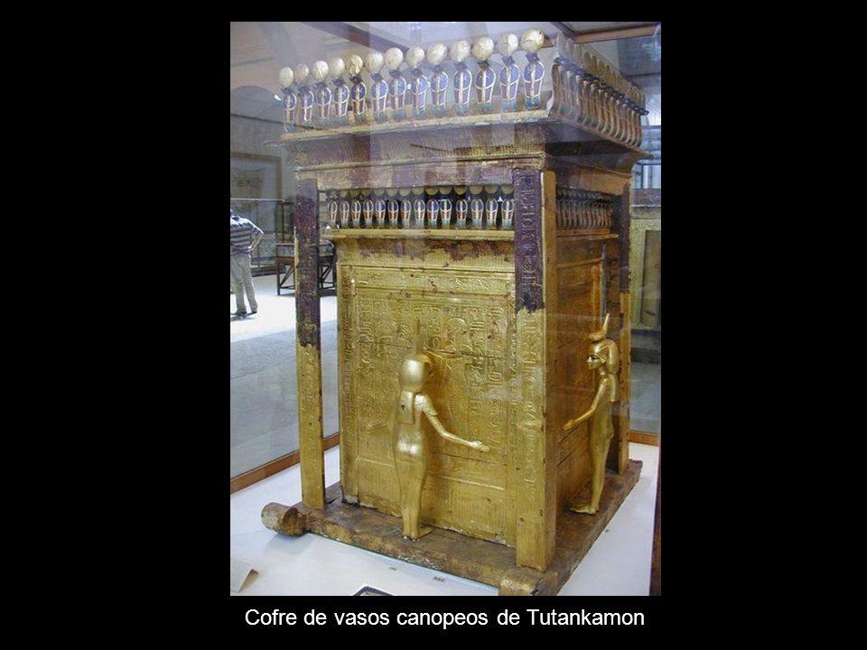 Cofre de vasos canopeos de Tutankamon