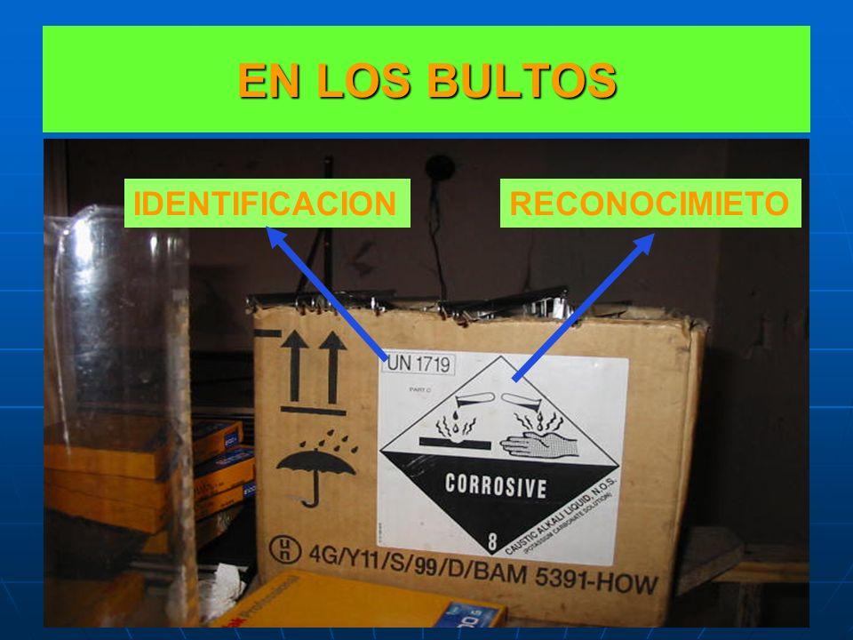 EN LOS BULTOS IDENTIFICACION RECONOCIMIETO