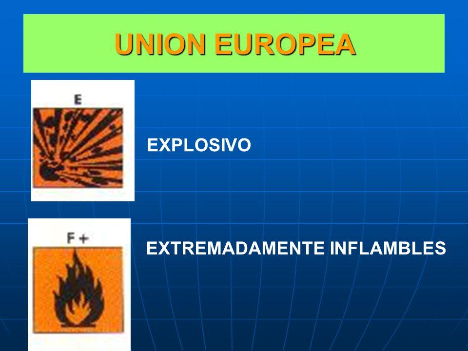 UNION EUROPEA EXPLOSIVO EXTREMADAMENTE INFLAMBLES