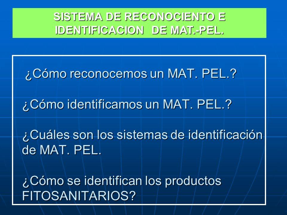 SISTEMA DE RECONOCIENTO E IDENTIFICACION DE MAT.-PEL.