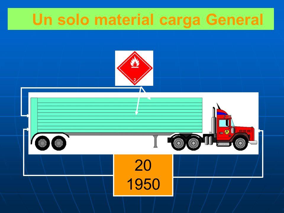 Un solo material carga General