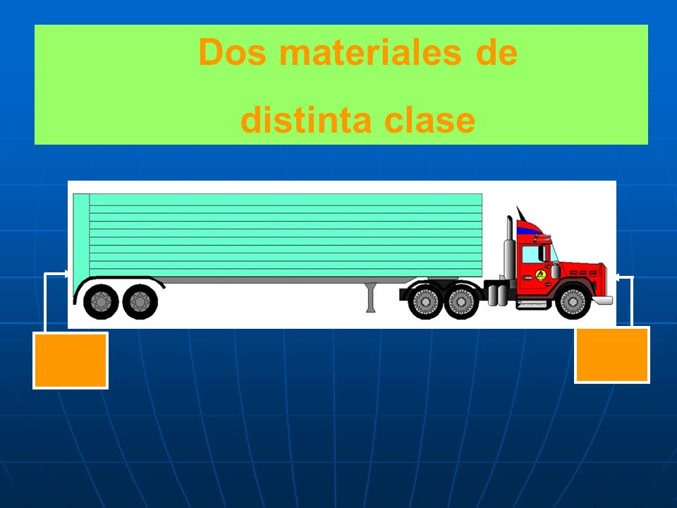 Dos materiales de distinta clase