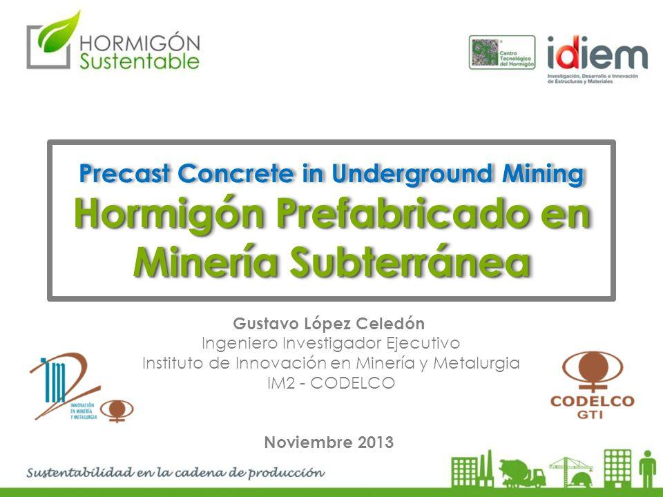 Hormigón Prefabricado en Minería Subterránea
