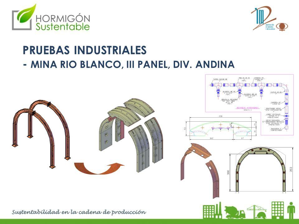 PRUEBAS INDUSTRIALES - MINA RIO BLANCO, III Panel, Div. Andina