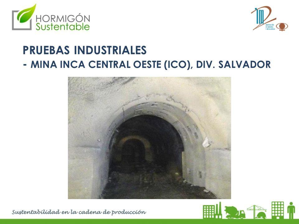 PRUEBAS INDUSTRIALES - MINA INCA CENTRAL OESTE (ico), Div. SALVADOR
