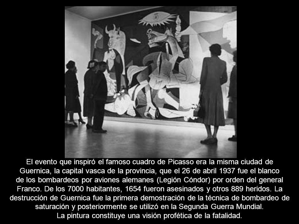 El evento que inspiró el famoso cuadro de Picasso era la misma ciudad de Guernica, la capital vasca de la provincia, que el 26 de abril 1937 fue el blanco