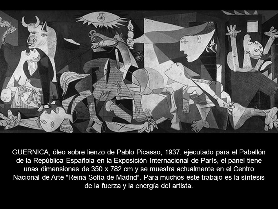 GUERNICA, óleo sobre lienzo de Pablo Picasso, 1937