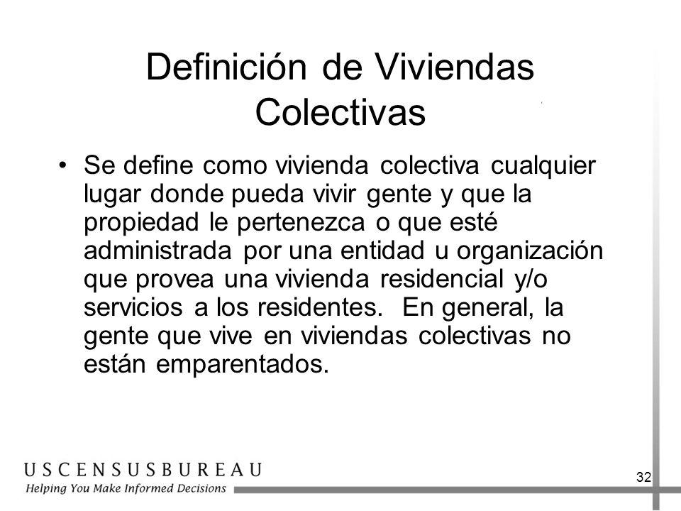 Definición de Viviendas Colectivas