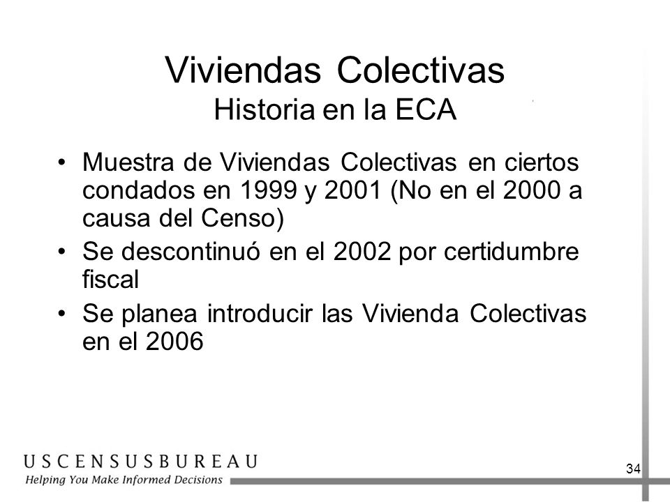 Viviendas Colectivas Historia en la ECA