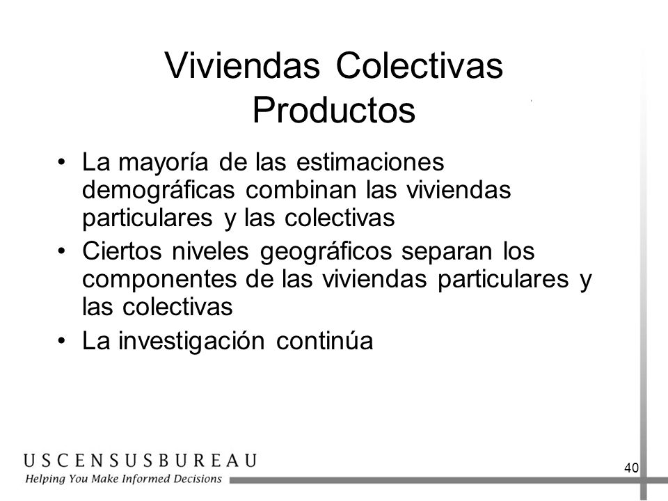 Viviendas Colectivas Productos