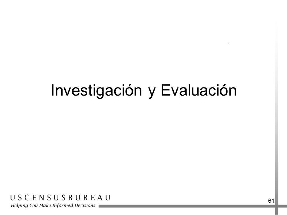 Investigación y Evaluación