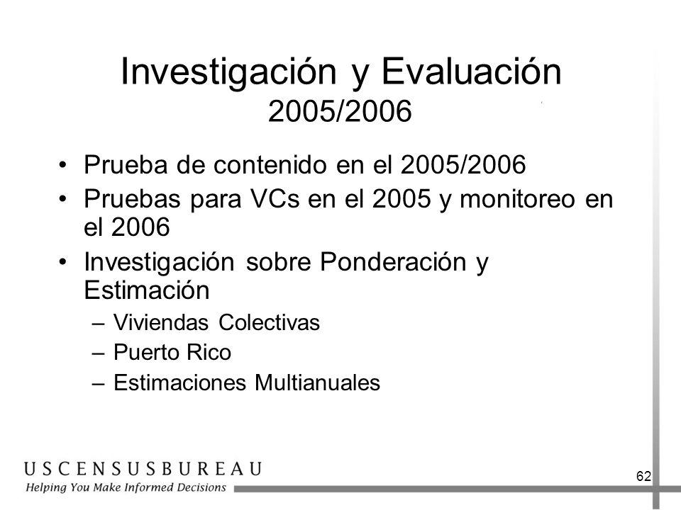 Investigación y Evaluación 2005/2006