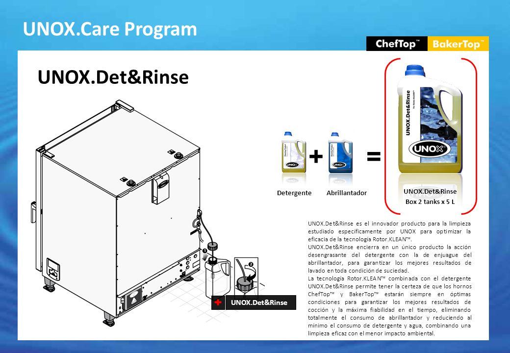 + = UNOX.Care Program UNOX.Det&Rinse UNOX.Det&Rinse Detergente
