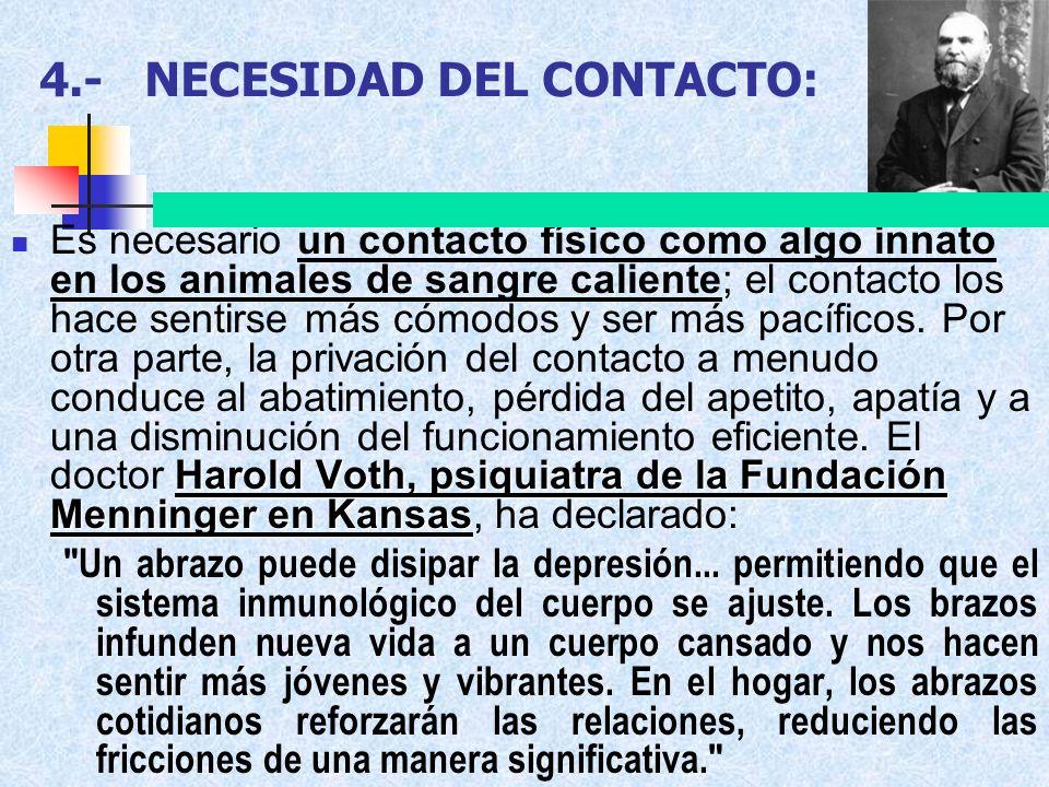 4.- NECESIDAD DEL CONTACTO: