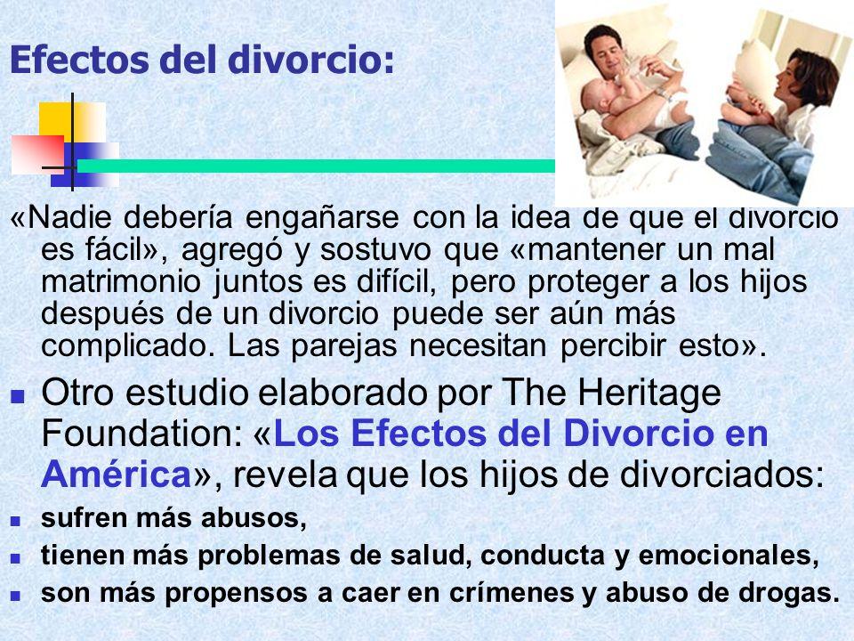 Efectos del divorcio: