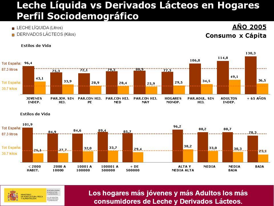 Leche Líquida vs Derivados Lácteos en Hogares Perfil Sociodemográfico