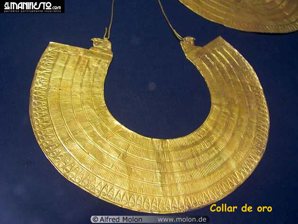 Gold sheet collar Collar de oro