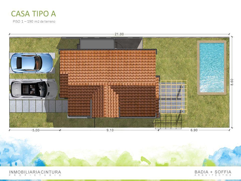 CASA TIPO A PISO 1 – 190 m2 de terreno