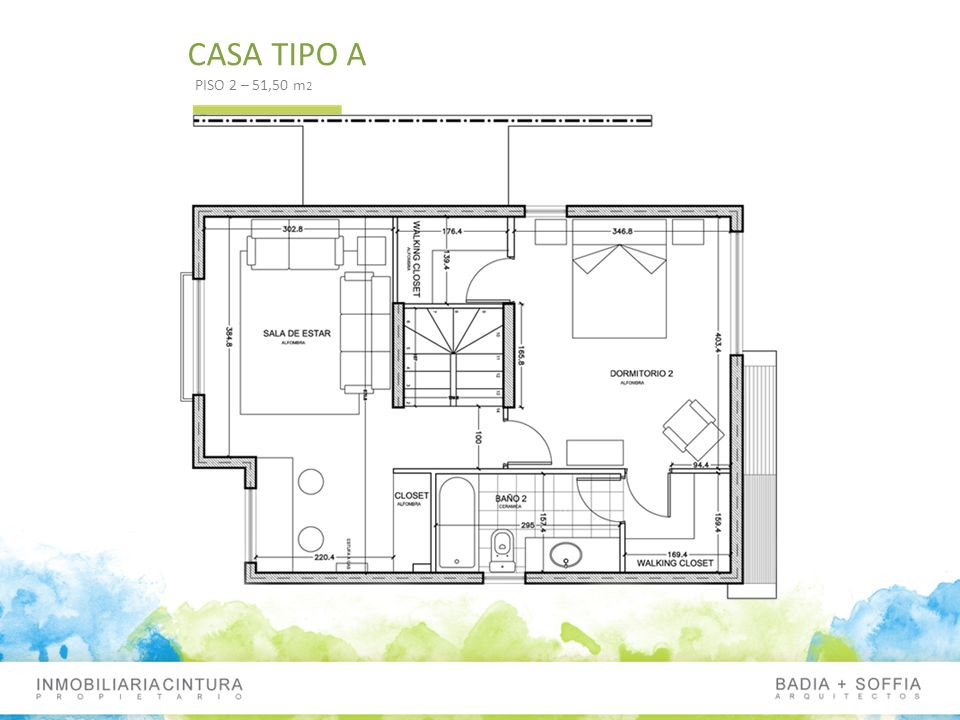 CASA TIPO A PISO 2 – 51,50 m2