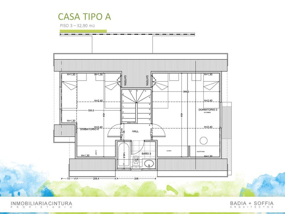 CASA TIPO A PISO 3 – 32,90 m2