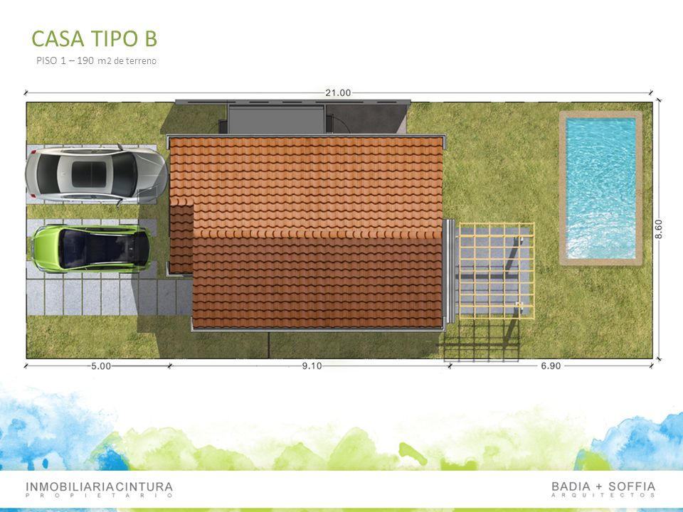 CASA TIPO B PISO 1 – 190 m2 de terreno
