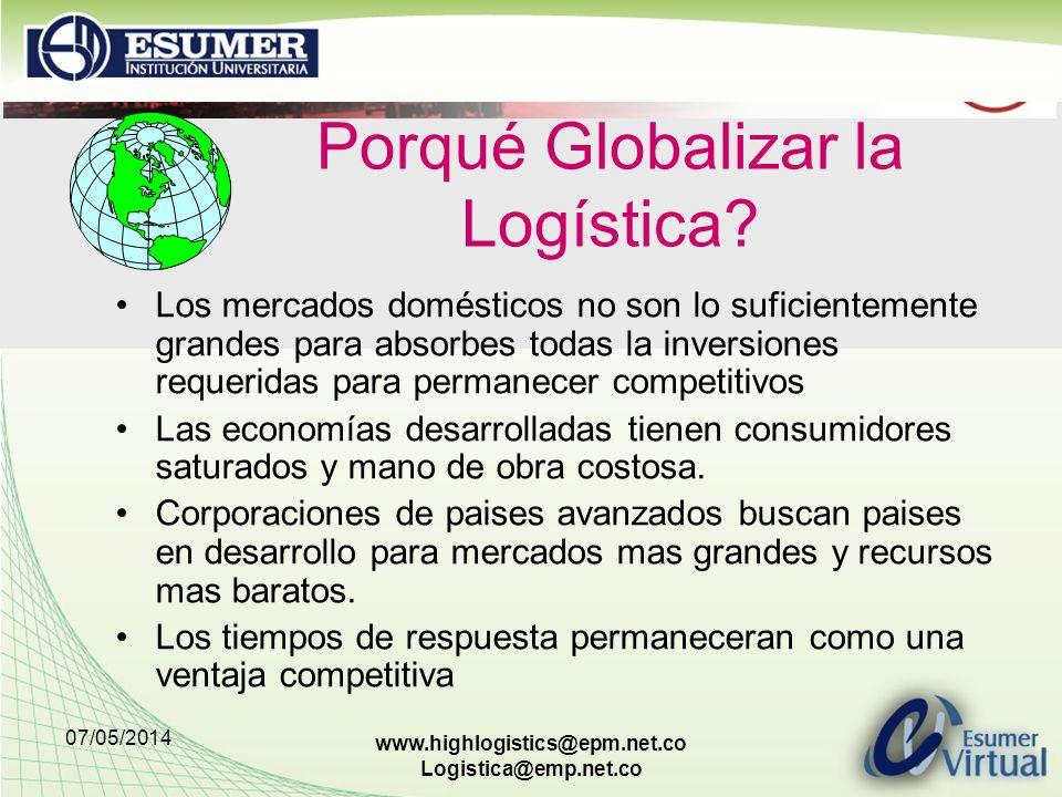 Porqué Globalizar la Logística