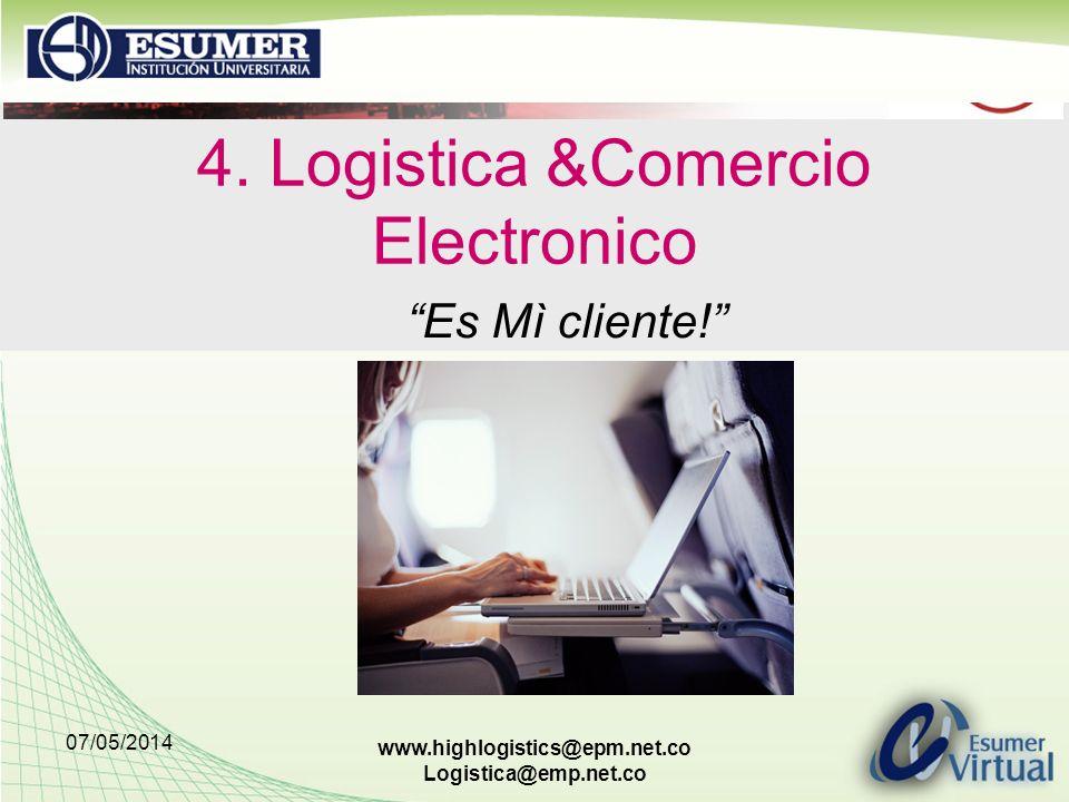 4. Logistica &Comercio Electronico