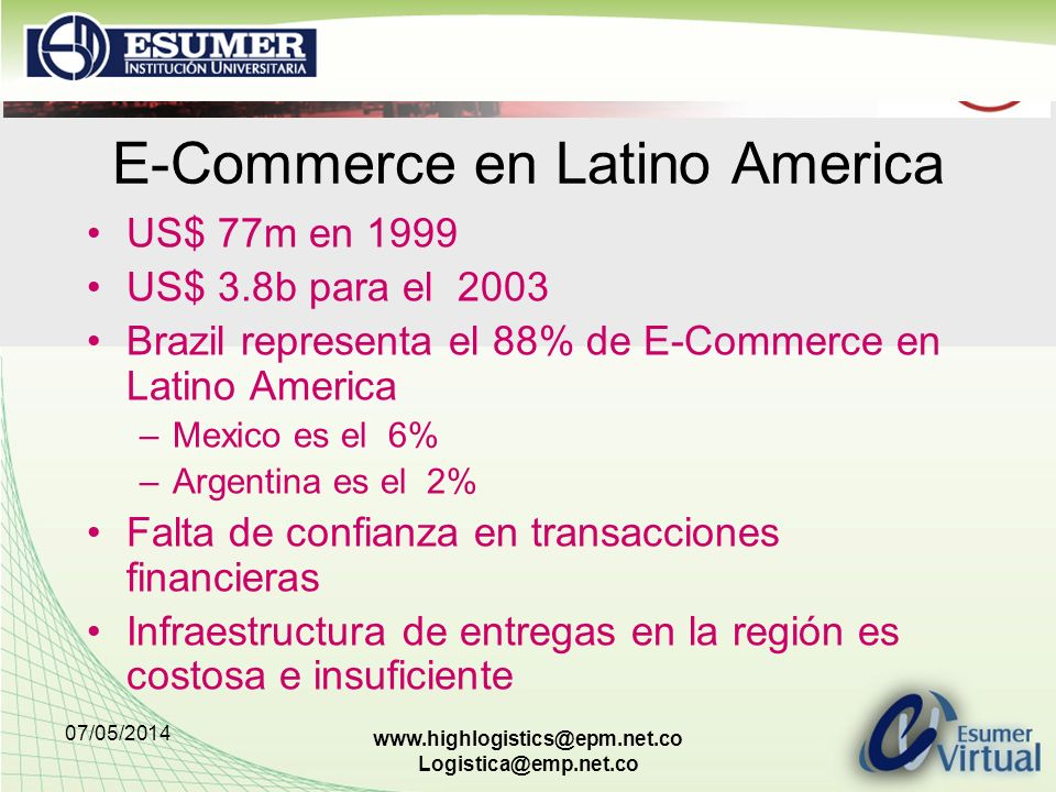 E-Commerce en Latino America