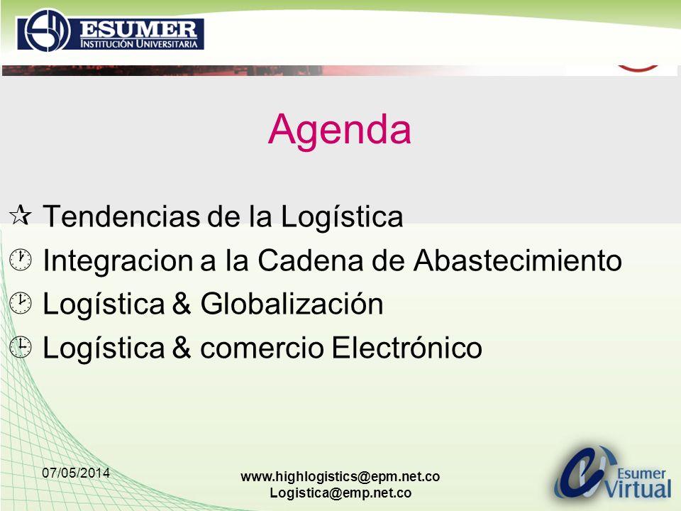 Agenda  Tendencias de la Logística