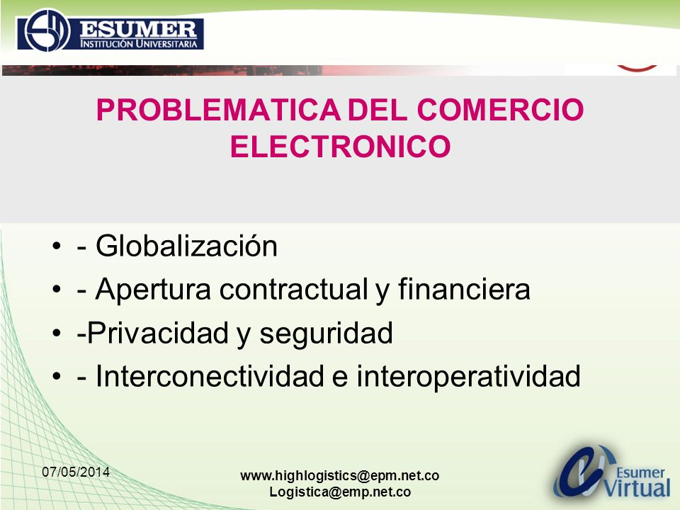 PROBLEMATICA DEL COMERCIO ELECTRONICO
