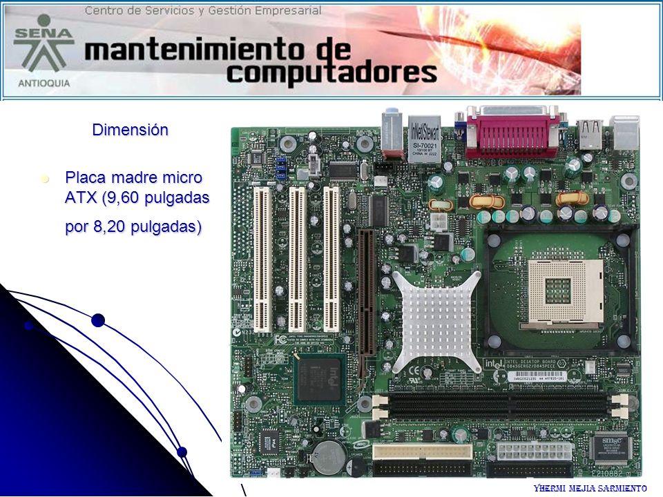 Placa madre micro ATX (9,60 pulgadas por 8,20 pulgadas)